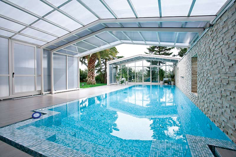 Lean To Retractable Pool Enclosures Glasscon Gmbh Architectural Building Skins Façade Solutions Curtain Walls Glazing Solar Shading Brise Soleil