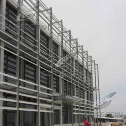 Building Facade with Aluminum Solar Louvers