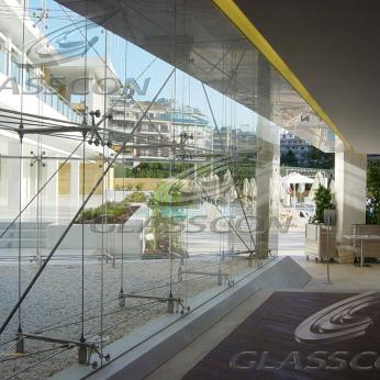 Tension Rod Glass Walls - Suspended Glazing