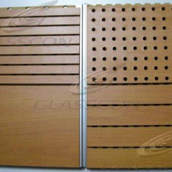 Wooden Grooved Acoustic Panels - Perforated & Diffusing