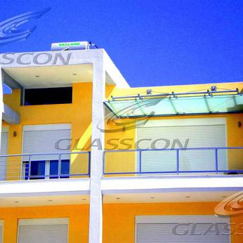 Glass Canopy in Residential Building