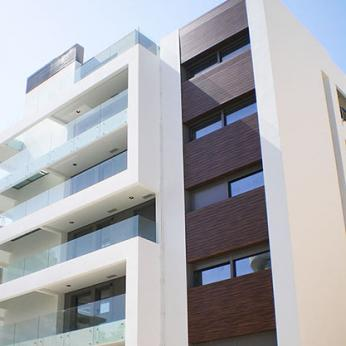 HPL Cladding, Doors & Fence in Residential Building