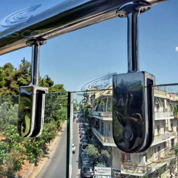 Curved Bent Glass Rails in Block of Flats