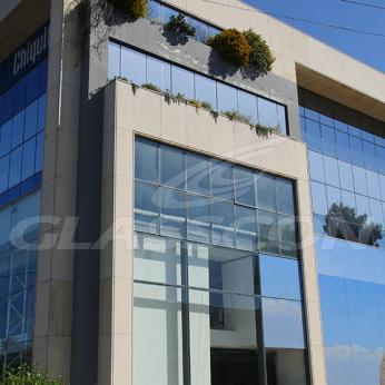 Spider Glass Curtain Wall on Steel Substructure Truss Glasscon 05.jpg