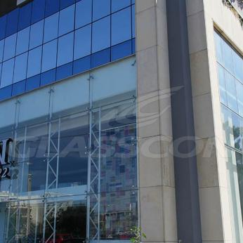 Spider Glass Curtain Wall on Steel Substructure Truss Glasscon 06.jpg