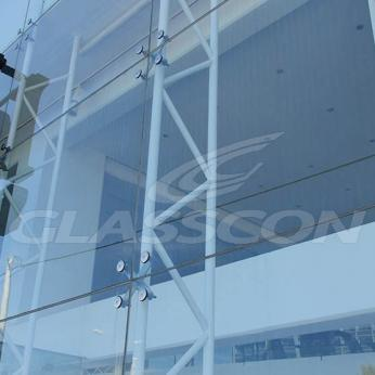 Spider Glass Curtain Wall on Steel Substructure Truss Glasscon 14.jpg