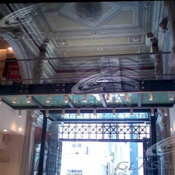 Glass Floors & Walkways in a Shopping Mall