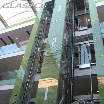 Spider Fritted Glass Shafts for Elevators